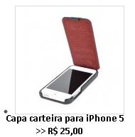 capa carteira iPhone 5